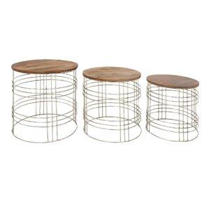 Napoli 3 Piece Nesting Tables by Gracie Oaks