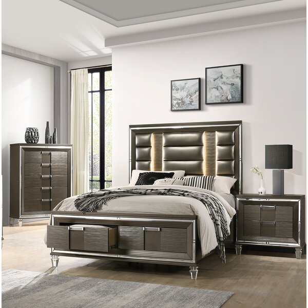 Gilmore Storage Platform 3 Piece Bedroom Set by Mercer41