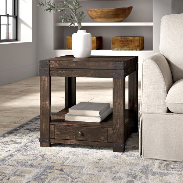 Quedgeley End Table With Storage By Three Posts