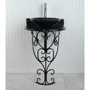Monterrey Metal 22 Pedestal Bathroom Sink D'Vontz