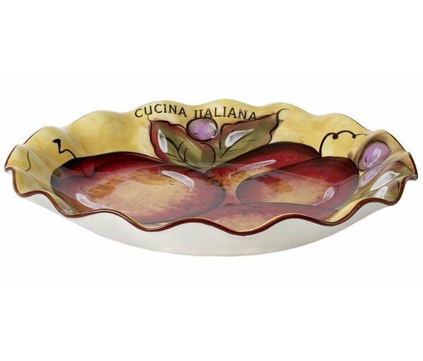Bisbee Large Scalloped Serving Pasta Platter by Fleur De Lis Living