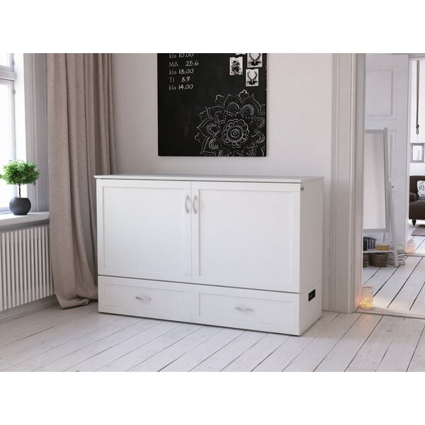 Audet Queen Storage Murphy Bed with Mattress by Canora Grey Canora Grey