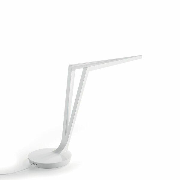 Aldrich 17 White Glossy Desk Lamp