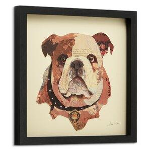 'English Bulldog Pup' Framed Graphic Art Print by Latitude Run