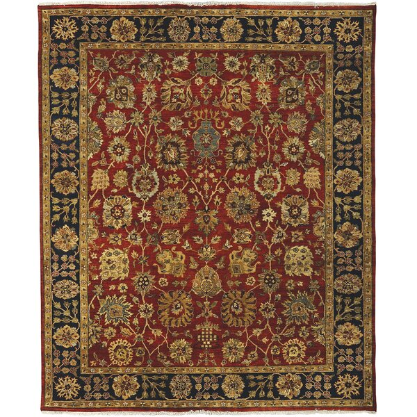 Lidiaídia Rust/Navy Area Rug by Darby Home Co