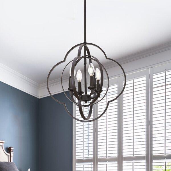Maissane 4 - Light Lantern Geometric Chandelier By Brayden Studio