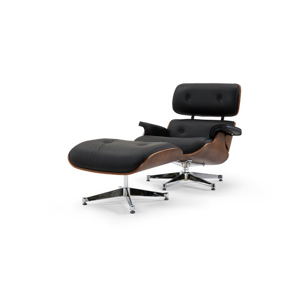 Firenze Lounge Chair and Ottoman by Pasargad Pasargad