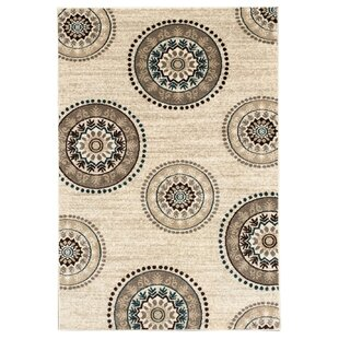 Harvin Cream Indoor/Outdoor Area Rug By Bungalow Rose