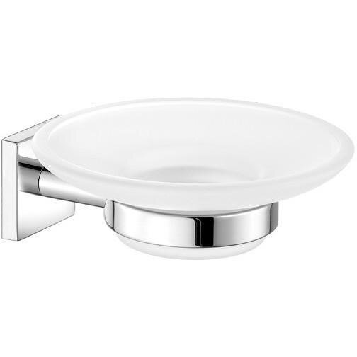 Sosa Wall Mounted Frosted Glass Soap Dish by Orren Ellis