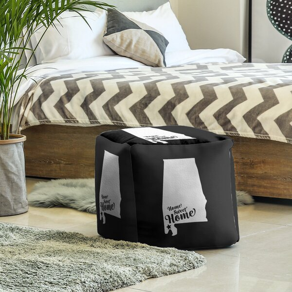 Home Sweet Mobile Cube Ottoman by East Urban Home East Urban Home