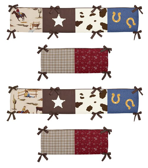 Wild West Crib Bumper by Sweet Jojo Designs