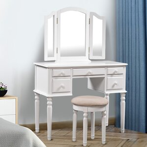 Ballston Vanity Set with Mirror by Alcott Hill