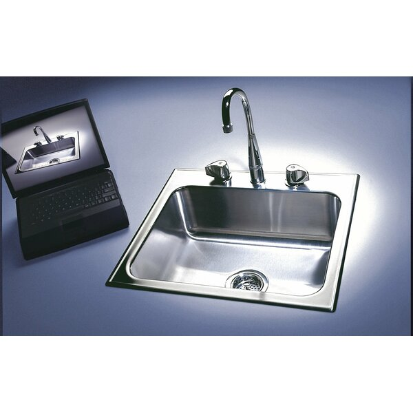 15 L x 15 W Drop-In Kitchen Sink by Just Manufacturing