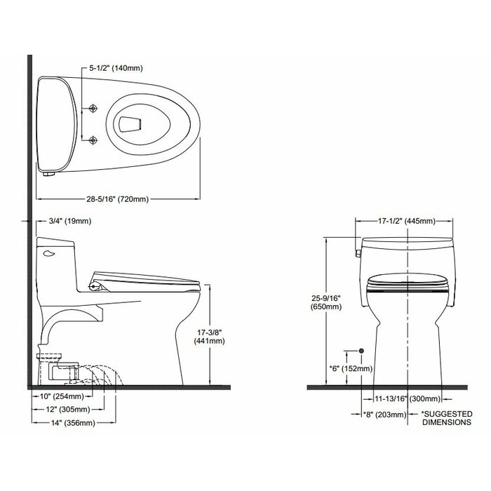 Superior Supreme II High Efficiency 1.28 GPF Elongated One Piece Toilet