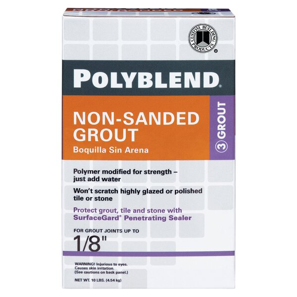 Polyblend Non-Sanded Tile Grout 10lb by Custom Building Products