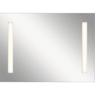 Orren Ellis Ritzman Modern LED Backlit Accent Mirror with Soundbar