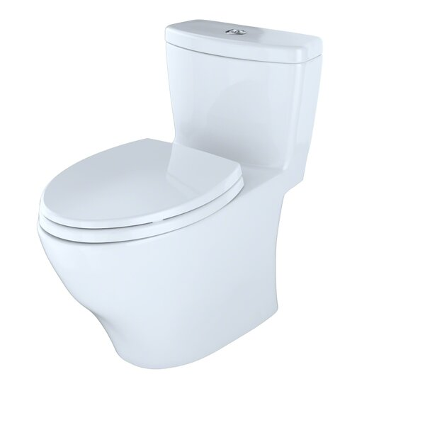 Aquia Dual-Flush Elongated One-Piece Toilet (Seat Included) by Toto