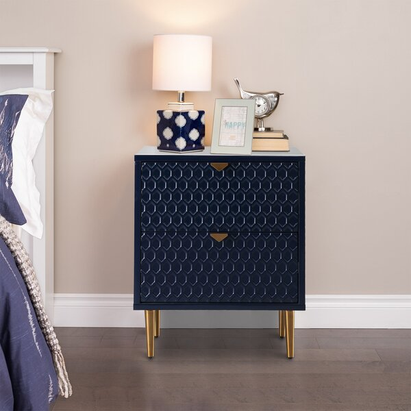 2 Drawer Nightstand By Everly Quinn
