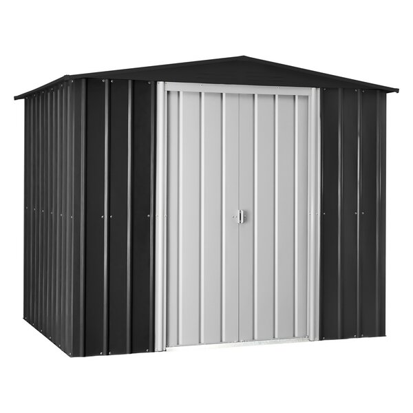 9 ft. 8 in. W x 7 ft. 9 in. D Galvanized Steel Storage Shed by Globel