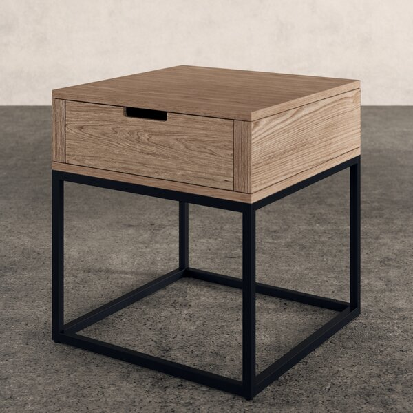 Jerri End Table With Storage by Greyleigh
