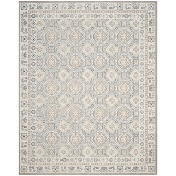 Patina Light Gray/Ivory Area Rug by Darby Home Co