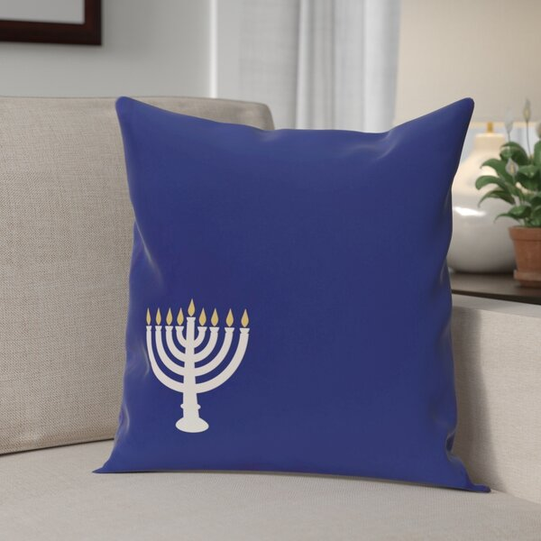 Holiday Geometric Print Eight Days of Light Throw Pillow by The Holiday Aisle