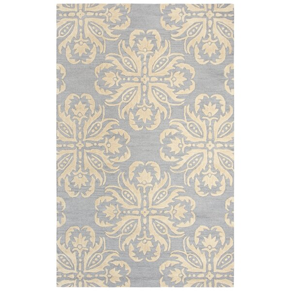 Gage Hand-Tufted Wool Gray/Beige Area Rug by Darby Home Co