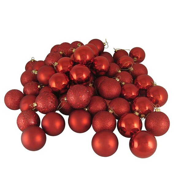Hot Shatterproof Christmas Ball Ornament Set (Set of 24) by The Holiday Aisle