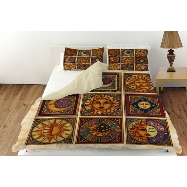 Celestial Squares Duvet Cover Collection by Manual Woodworkers & Weavers
