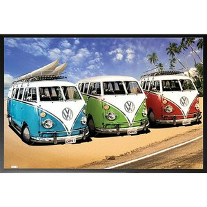 'VW California Campers' Framed Photographic Print by Buy Art For Less