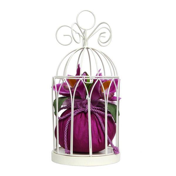 Birdcage Jewelry Hanger Cream Orchids Centerpiece by House of Hampton