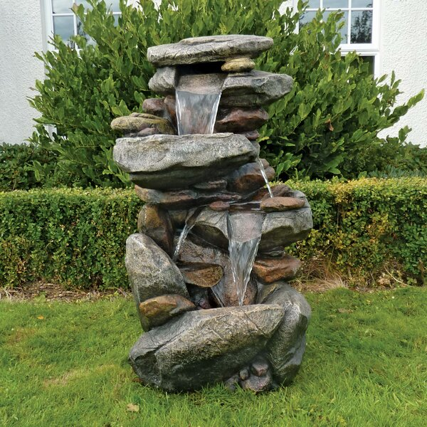 Resin Cathedral Rocks Cascading Fountain by Wildon Home ®