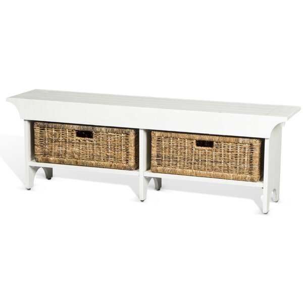 Andrew Wood Bench with Storage Bench by Gracie Oaks