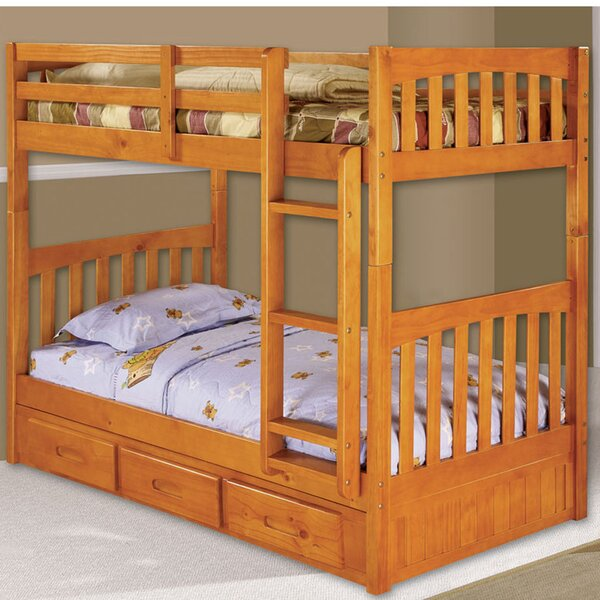 Eichorn Twin over Twin Bunk with Built-In Storage Drawers by Harriet Bee