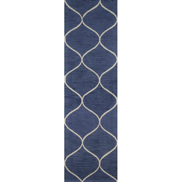 Caldwell Hand-Tufted Blue Area Rug by Breakwater Bay