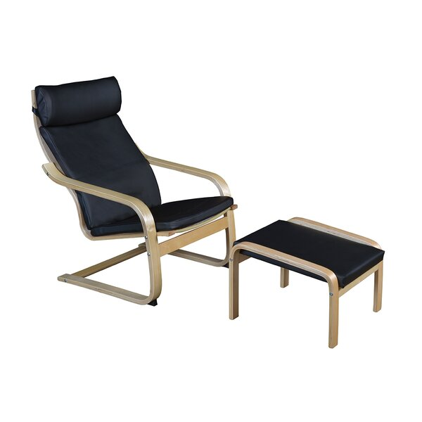 Vauxhall Bentwood Recliner and Ottoman by Mistana