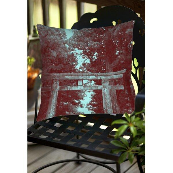 Nikko Gate Indoor/Outdoor Throw Pillow by Manual Woodworkers & Weavers