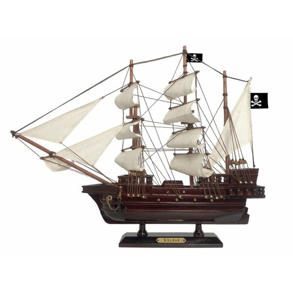 Mundt Wooden Whydah Gally Sails Pirate Ship Model by Breakwater Bay