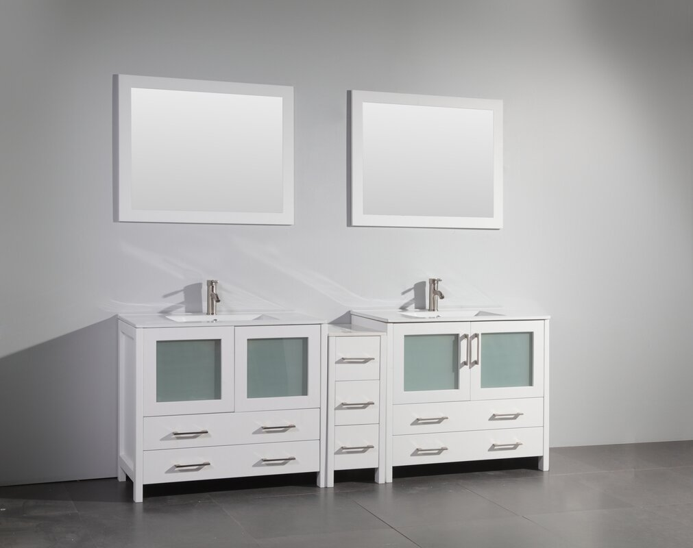 double bathroom vanity set. 84  Double Bathroom Vanity Set With Mirror Reviews AllModern