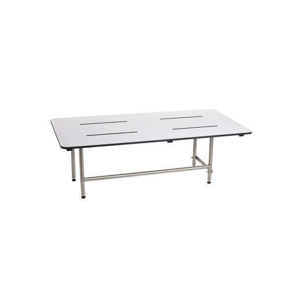 Signature 48 x 24 Bench Shower Seat with Legs by Seachrome