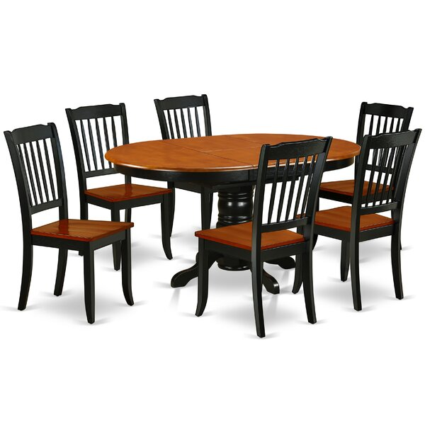 La Mott 7 Piece Extendable Solid Wood Dining Set by August Grove