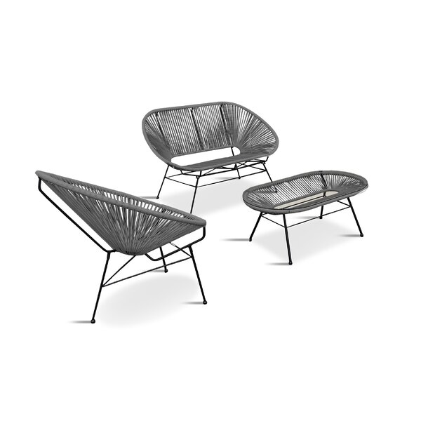 Ehrlich 3 Piece Sofa Seating Group by Ivy Bronx