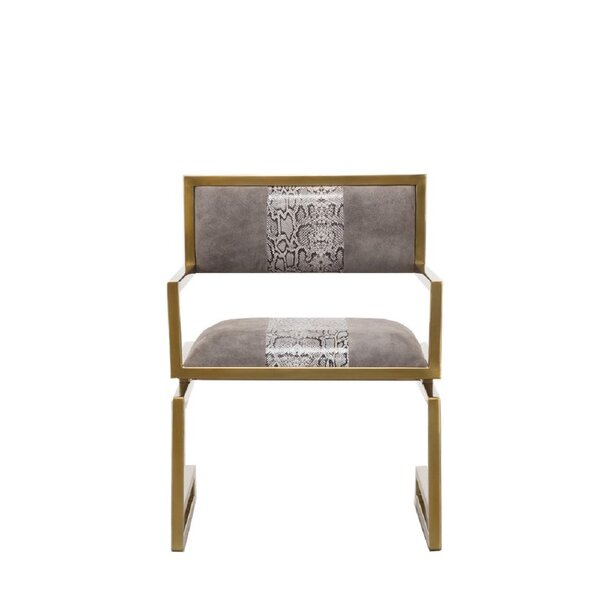 Free S&H Penn Snake Leather Armchair