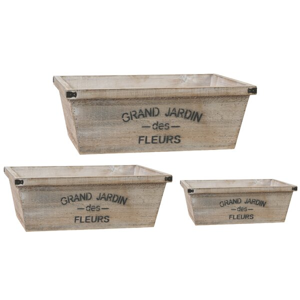 Jardin 3-Piece Wood Planter Box Set by A&B Home
