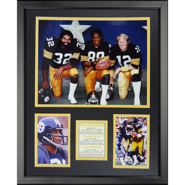 NFL Pittsburgh Steelers - 1970s Posed Framed Memorabili by Legends Never Die