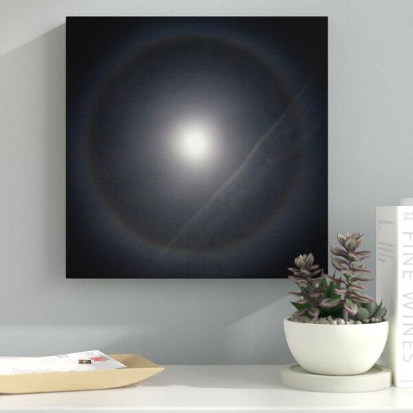 Ebern Designs \'Moon Halo\' Graphic Art on Canvas   Wayfair