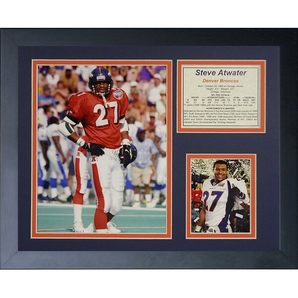 Steve Atwater Framed Memorabilia by Legends Never Die
