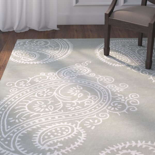 Bauman Hand-Tufted Gray/Ivory Area Rug by The Twillery Co.