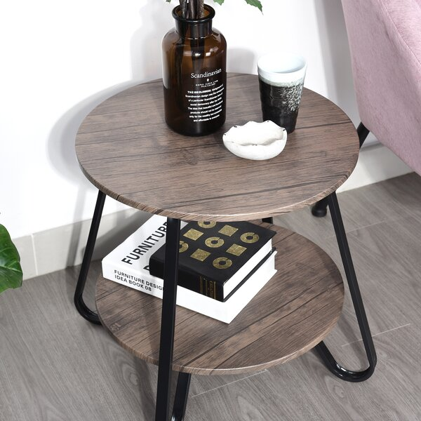 Julie End Table with Storage by 17 Stories