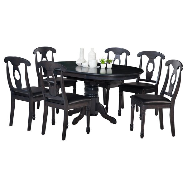 Maryrose 7 Piece Wood Dining Set with Butterfly Leaf Table by Darby Home Co